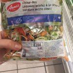 Légumes mixtes à la chinoise