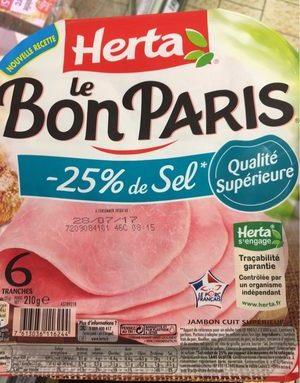 Le bon Paris -25% de sel