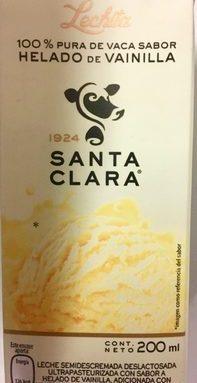 Leche de vaca sabor helado de vainilla
