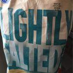 Lightly salt potato chips