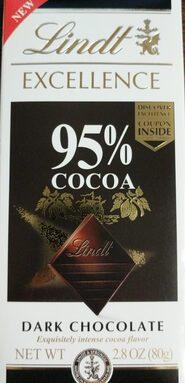 Lindt Excellence Dark Chocolate 95%