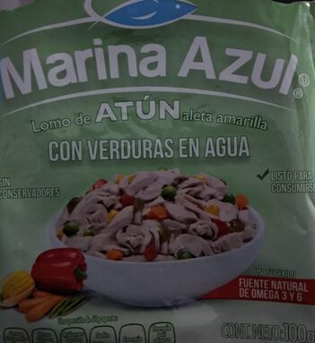 Lomo de atún con verduras