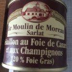 Médaillon au foie gras de canard et aux champignons