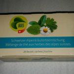 Mélange de thé aux herbes des alpes suisses