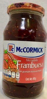 MC CORMICK MERMELADA DE FRAMBUESA