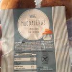 Madalenas sin gluten y sin lactosa