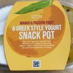 Mango & Passion Fruit & Greek Style Yogurt Snack Pot