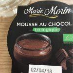 Marie Morin mousse chocolat bio