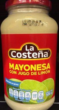 Mayonesa con jugo de limón La Costeña