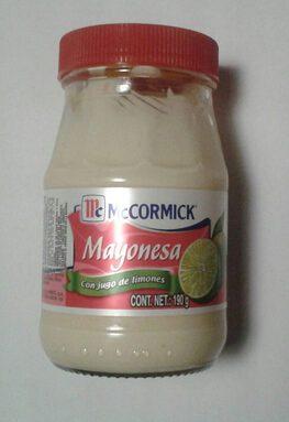 Mayonesa con jugo de limones