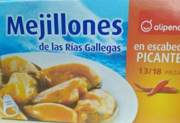 Mejillones de las rías gallegas en escabeche picantes