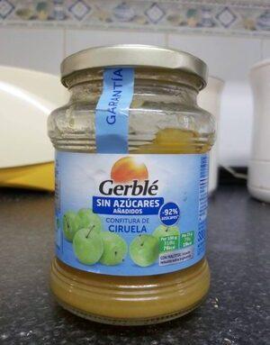 Mermelada gerble confitura de ciruela sin azucares añadidos