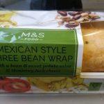 Mexican style bean wrap