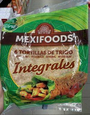 Mexifood 6 tortillas de trigo integrales