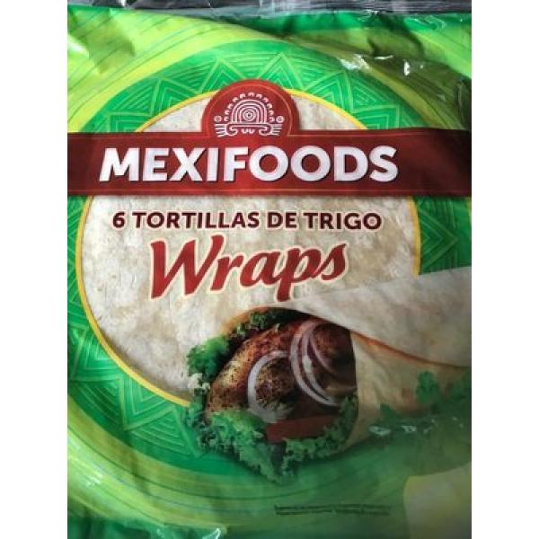Mexifoods 6 Flour Tortillas 25CM