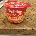 Microwave Single Cheeseburger Macaroni