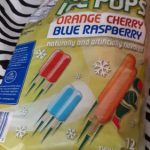 Mighty Ice Pops Orange Cherry Blue Raspberry