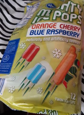 Mighty Ice Pops Orange Cherry Blue Raspberry