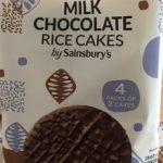 Milk chocolate rice cakes