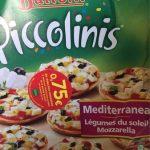 Minis-Pizza surgelées aus légumes et à la mozzarella