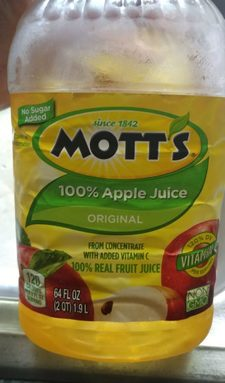 Mott's 100% Apple Juice Original (from concentrate with added Vitamin C