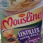 Mousline Lentilles Curry & Pommes de Terre