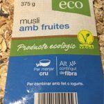 Musli amb fruites