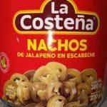Nachos de jalapeno en escabeche