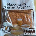 Napolitanas rellenas de crema de cacao