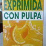 Naranja 100% exprimida con pulpa