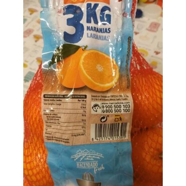 Naranjas 3KG Zumo