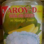 Nata de coco au jus de mangue
