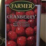 Nectar de cranberry