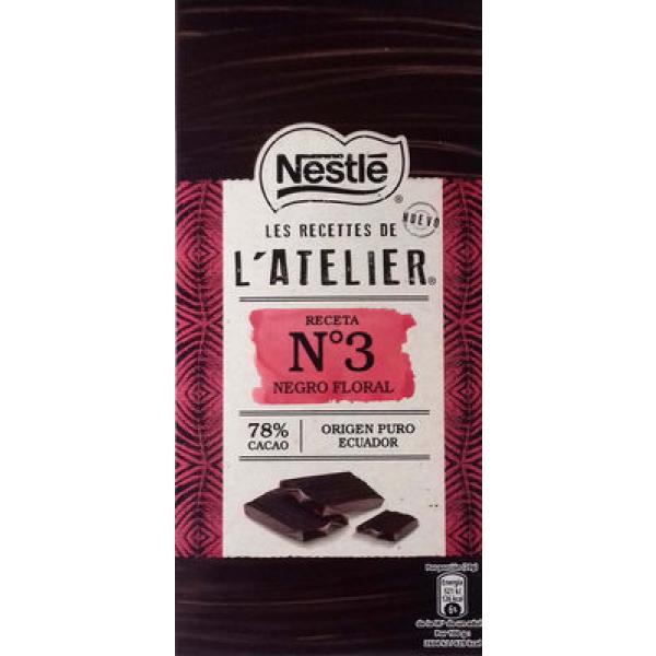 Nestlé Chocolate Negro Floral Receta N 3 78% cacao