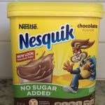 Nestle Nesquik Chocolate No Sugar Added