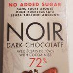 Noir sans sucres ajoutés avec éclats de fèves