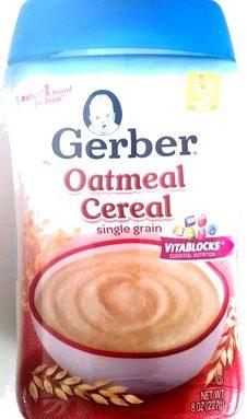 Oatmeal Cereal single grain