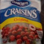 Ocean Spray Craisins Sweetened Dried Cranberries 1.36KG
