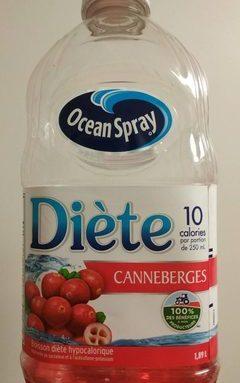 Ocean Spray Diète Canneberges