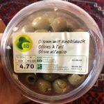Olives à l'ail