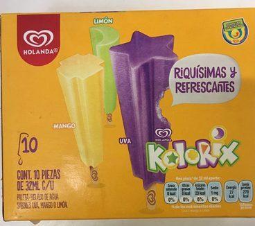 Paleta de agua Kolorix sabor Uva