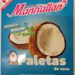 Paletas Manhattan sabor coco endulzadas con stevia