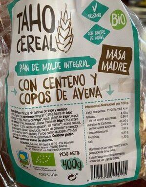 Pan de Molde Integral con Centeno y Copos de avena
