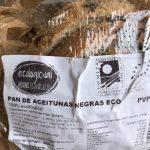 Pan de aceitunas negro eco