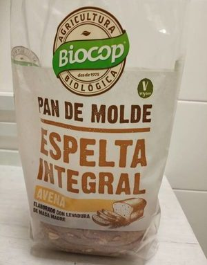 Pan de molde de espelta Integral