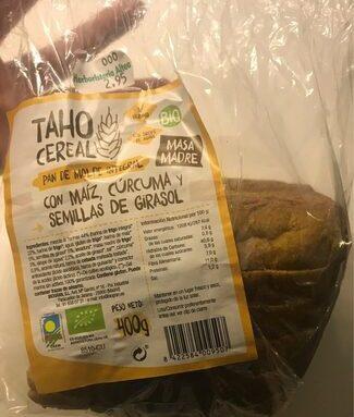 Pan de molde integral con maíz