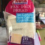 Pan de molde sin corteza
