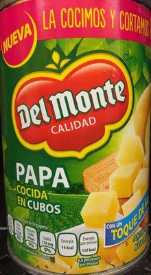 Papa cocida en cubos Del Monte