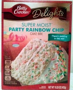 Party Rainbow Chip cake mix