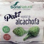 Paté vegetal de alcachofa